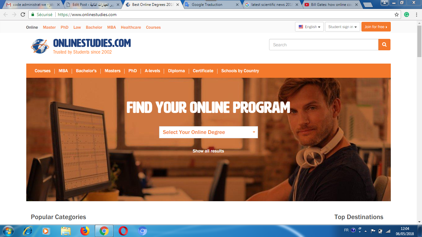Online paid study in hundreds of universities across the world for students and employees