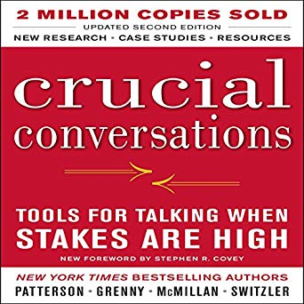 Crucial Conversations Tools for Talking When Stakes Are High - by Kerry Patterson, Joseph Grenny, Ron McMillan, and AI Switzler