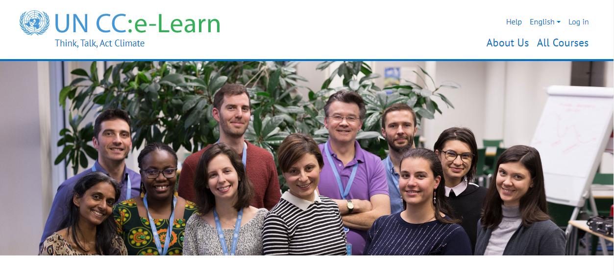 منصة الأمم المتحدة حول التغير المناخي :  UNCC : e-Learn.